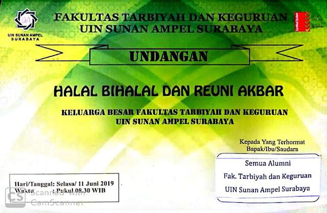 Undangan Reoni Akbar dan Halal Bi Halal