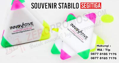 Stabilo Segitiga 3 Warna, Stabilo berbentuk segitiga dengan 3 warna, Segitiga Stabilo Promosi, STABILO ( HIGHLIGHTER) Segitiga
