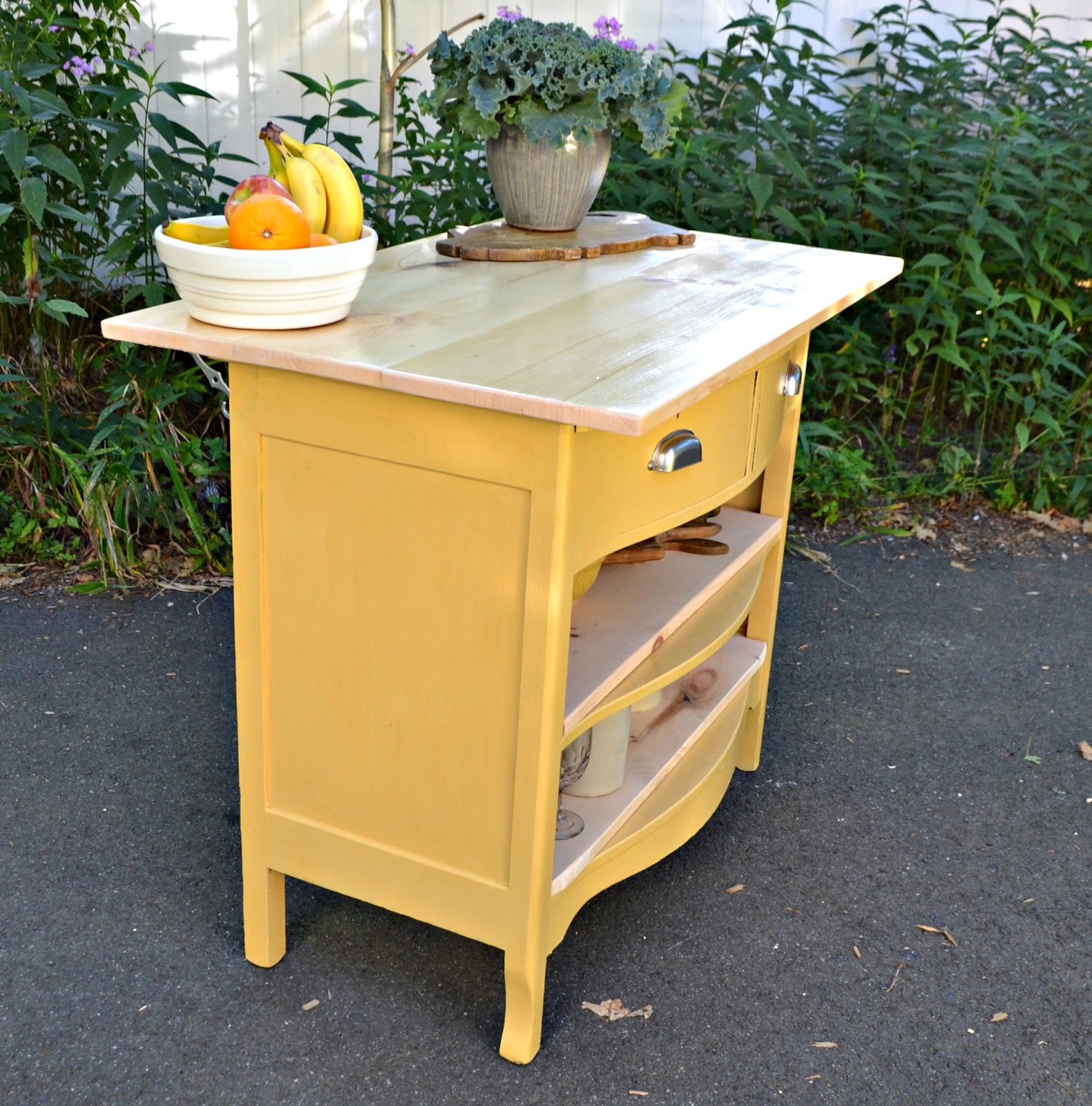 Turn A Dresser Into A Kitchen Island: Heir And Space: Antique Dresser Turned Kitchen Island