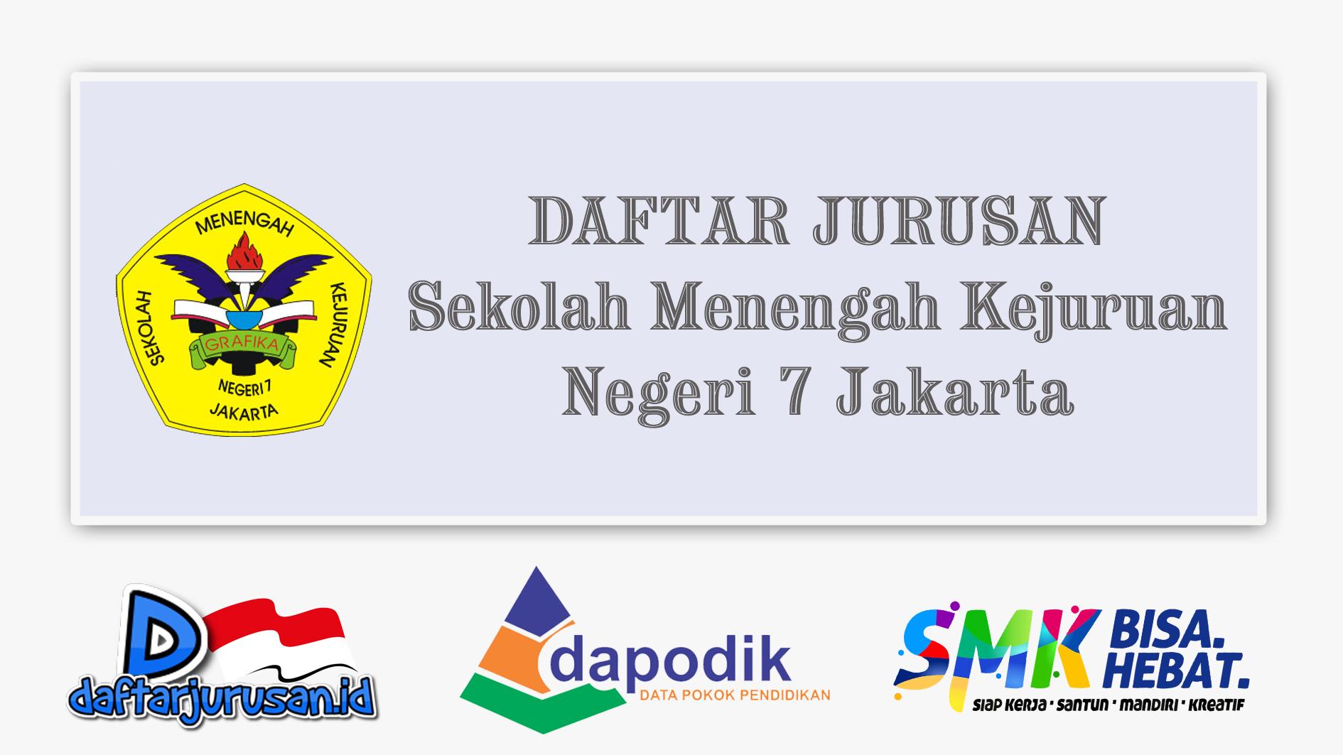 Daftar jurusan SMK Negeri 7 Jakarta Timur