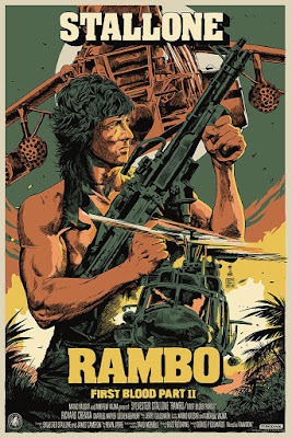 Rambo: First Blood Part II Screen Print by Francesco Francavilla x Nautilus Art Prints x Mondo