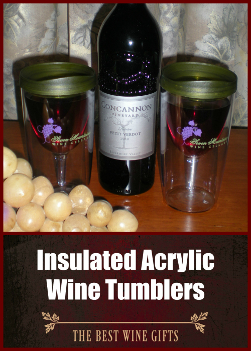 Insulated Acrylic Wine Tumblers