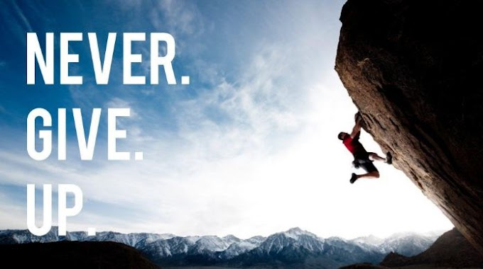 Never Give Up HD Wallpaper For iphone