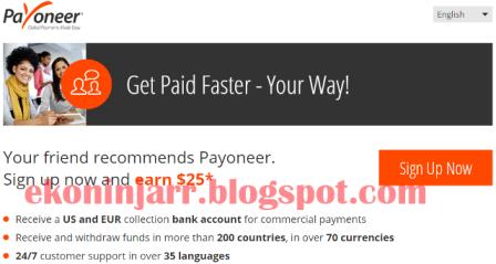 Cara Membuat MasterCard Payoneer Cepat Dan Gratis | 2015