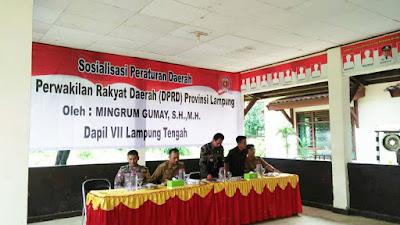 Ketua DPRD Lampung Sosialisasikan Perda nomor 1 Tahun 2019