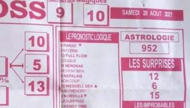 Pronostics quinté pmu samedi Paris-Turf TV-100 % 28/08/2021