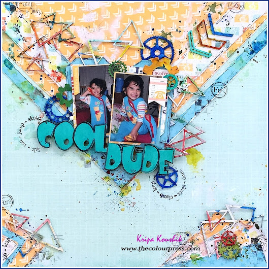(VIDEO Tutorial) : 'Cool Dude' using 2crafty & Colourarte for ARTastic Challenge July 2017