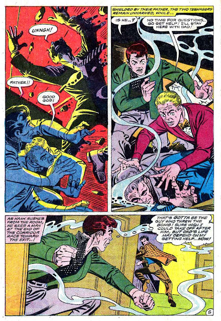 Showcase v1 #75 Hawk and the Dove dc comic book page art by Steve Ditko