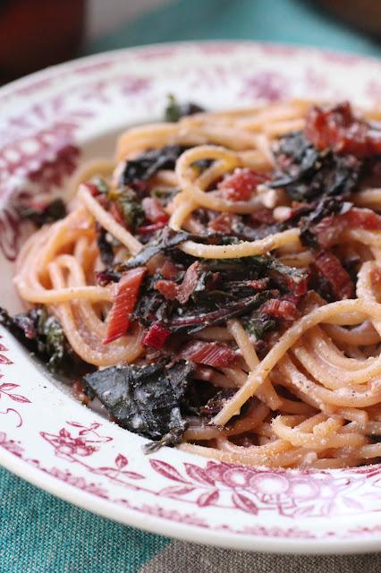 spaghetti bettes citron et ricotta