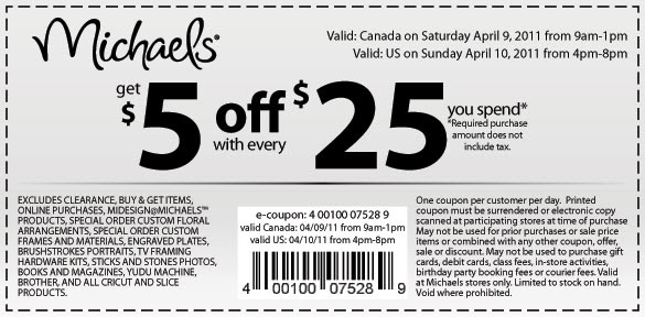 Ovumiredyp Michaels Printable Coupons April 2011