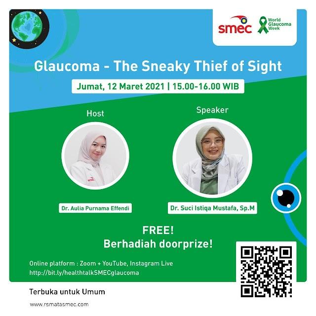 """Live Health Talk dengan tajuk  """"Glaucoma - The Sneaky Thief of Sight"""""""