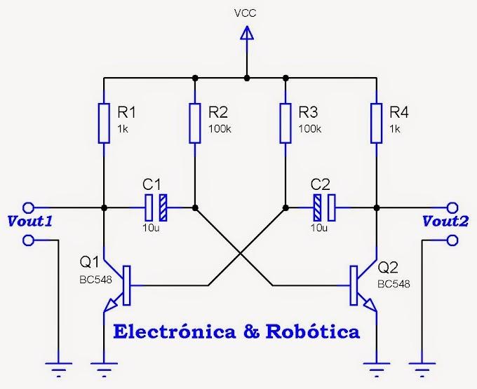 Multivibrador astable con transistores