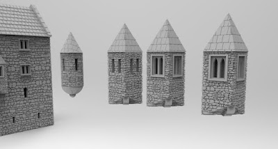Different corner-turrets for the buildings picture 1