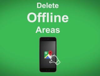 Delete offline area in Google Maps