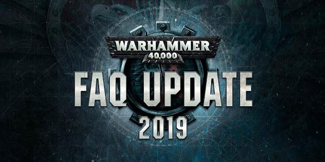 WArhammer 40,000 FAQ 2019