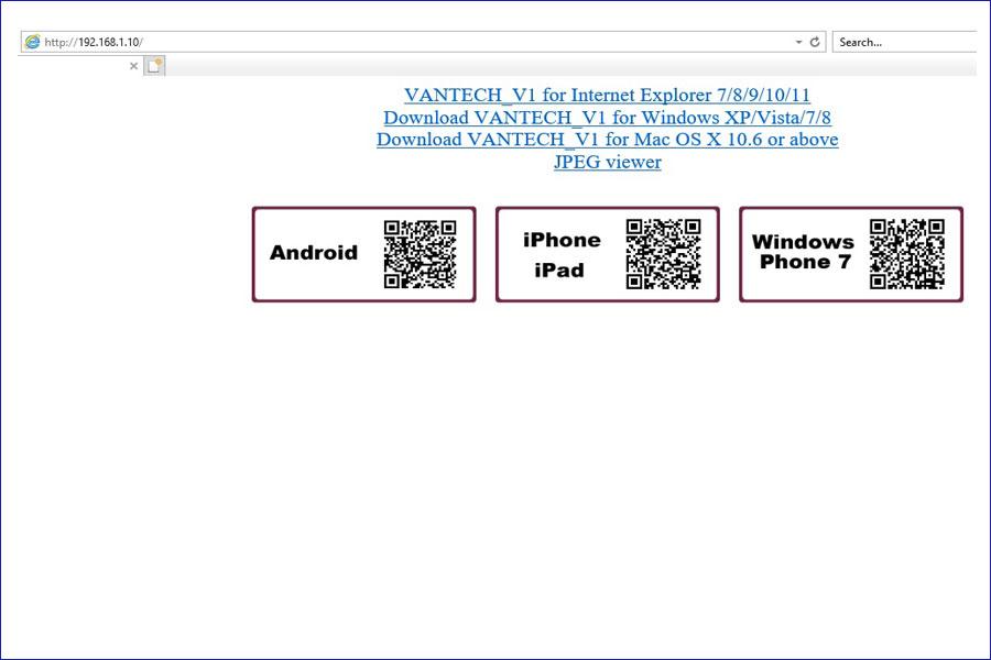 Giao diện đăng nhập VP-464H265+