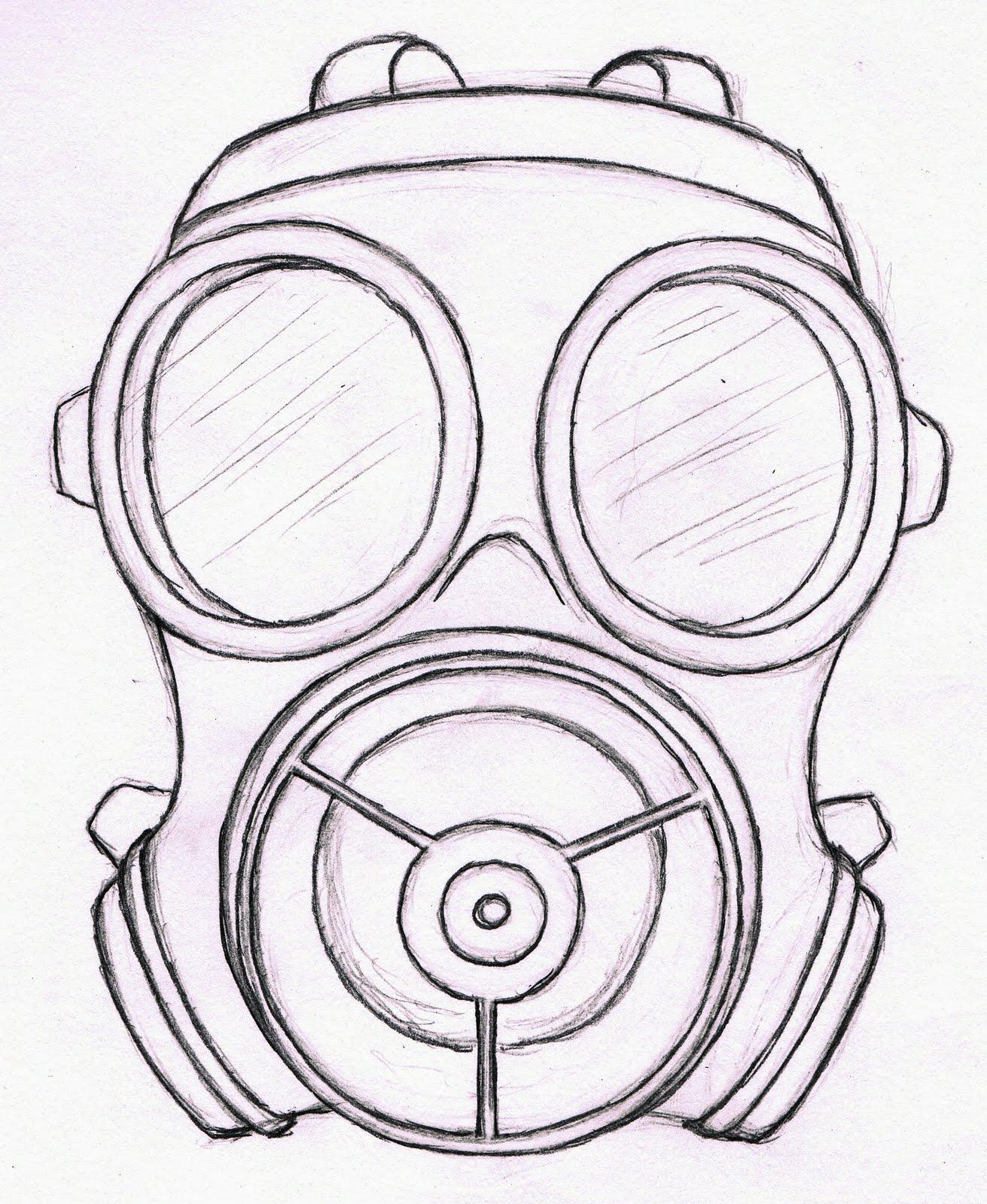 gallyazel travail sur les masques gaz croquis. Black Bedroom Furniture Sets. Home Design Ideas