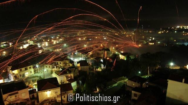 """""""Νίκησε"""" ο Ρουκετοπόλεμος στη Χίο την πανδημία (βίντεο)"""