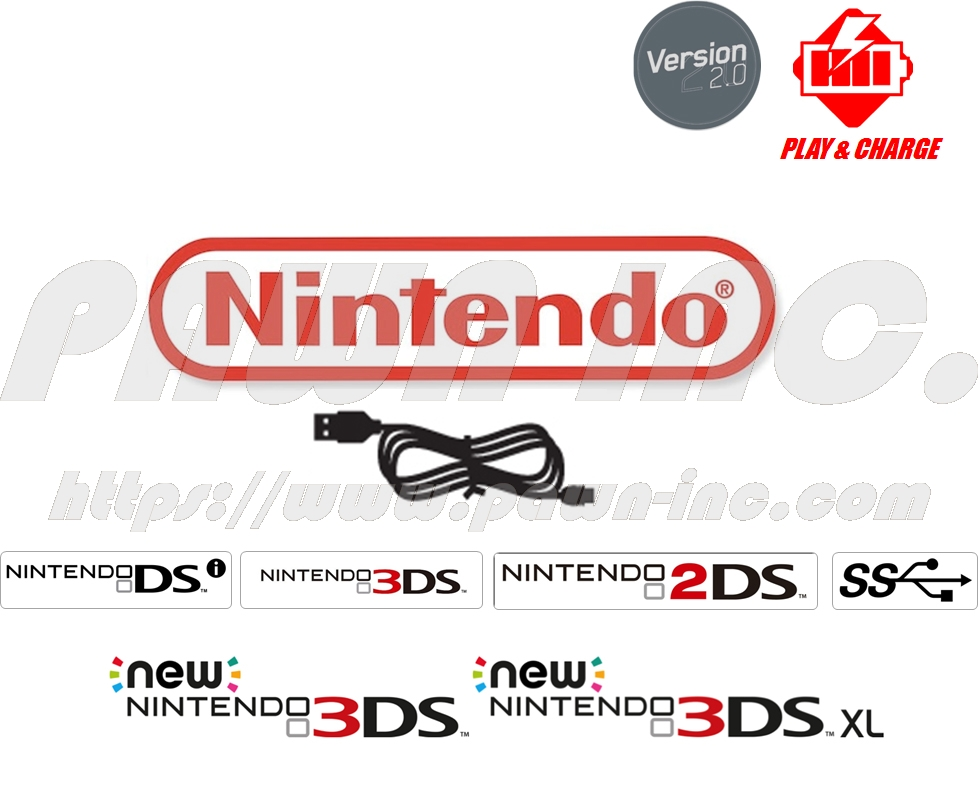 USB Charging Cable For Nintendo DSi / 3DS / 2DS