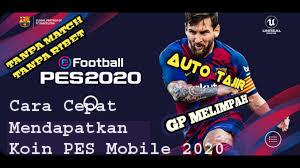 Cara Cepat Mendapatkan Koin PES Mobile 2020