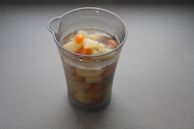 Pappa di patate e carciofi per il lattante step 4