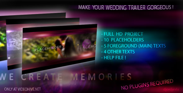 Free download after effects projects the wedding intro 2 for Aep templates free download