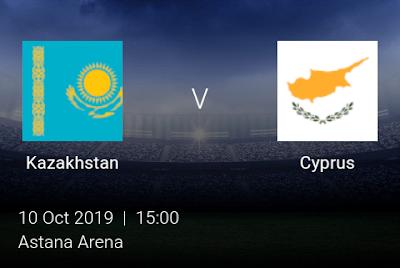 LIVE MATCH: Kazakhstan Vs Cyprus UEFA Euro 2020 Qualifiers 10/10/2019