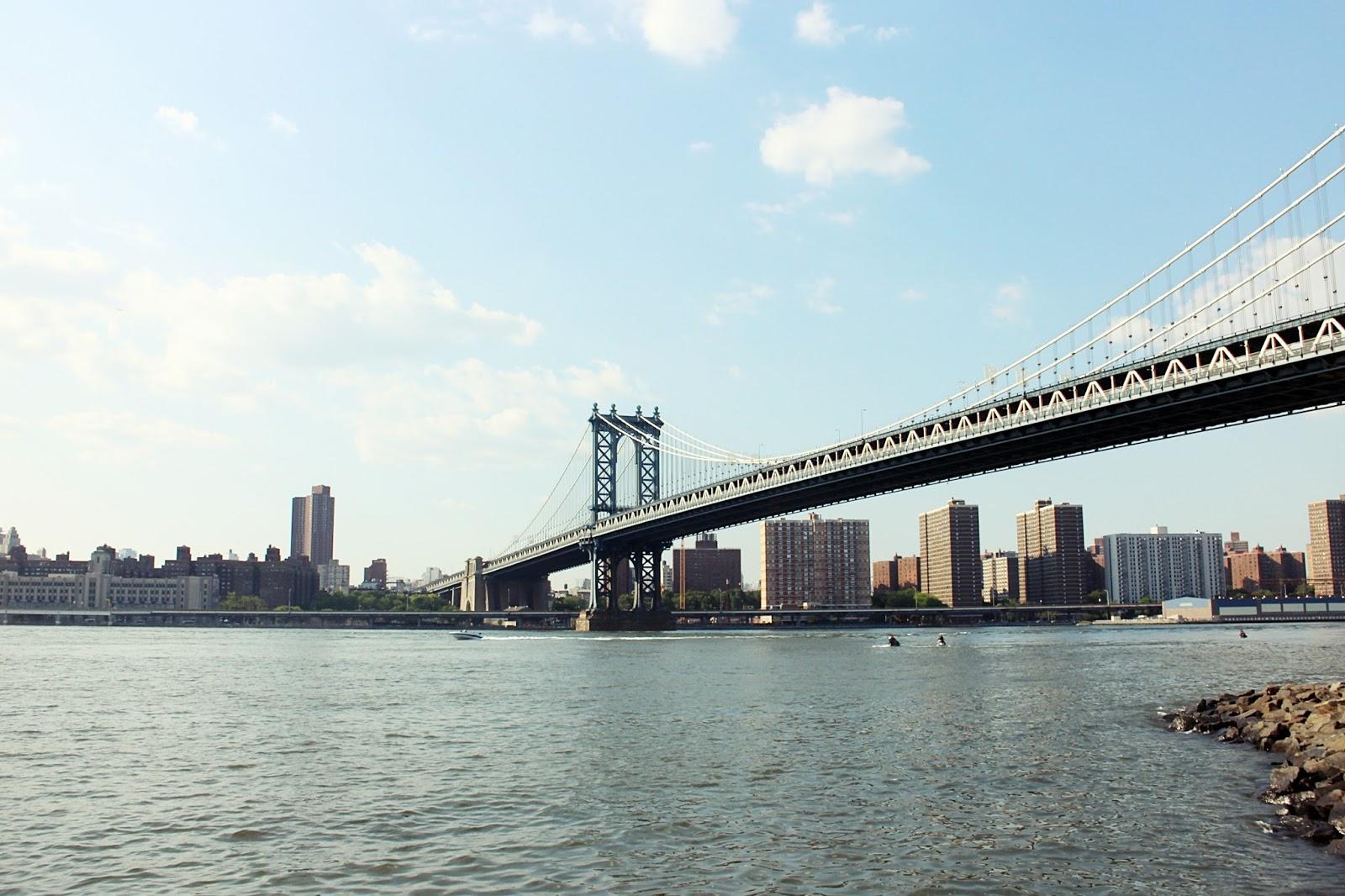 View of Manhattan from DUMBO, New York, USA