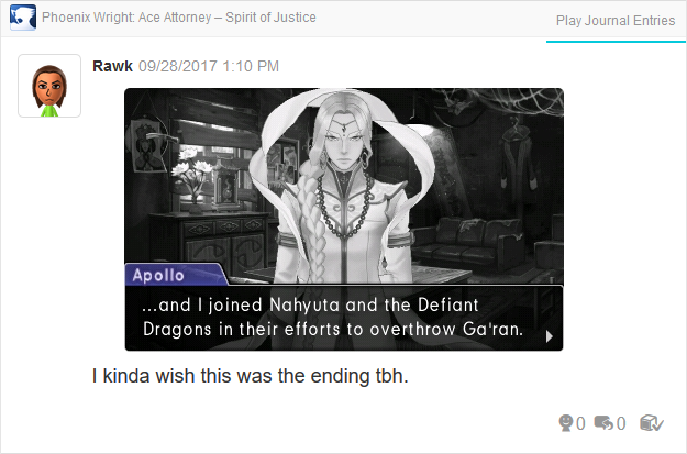 Phoenix Wright Ace Attorney Spirit of Justice Apollo joins Defiant Dragons bad ending Turnabout Revolution