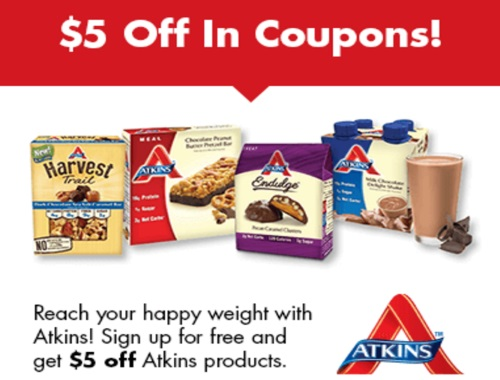 Atkins Free Quick Start Kit + $5 Off Coupon