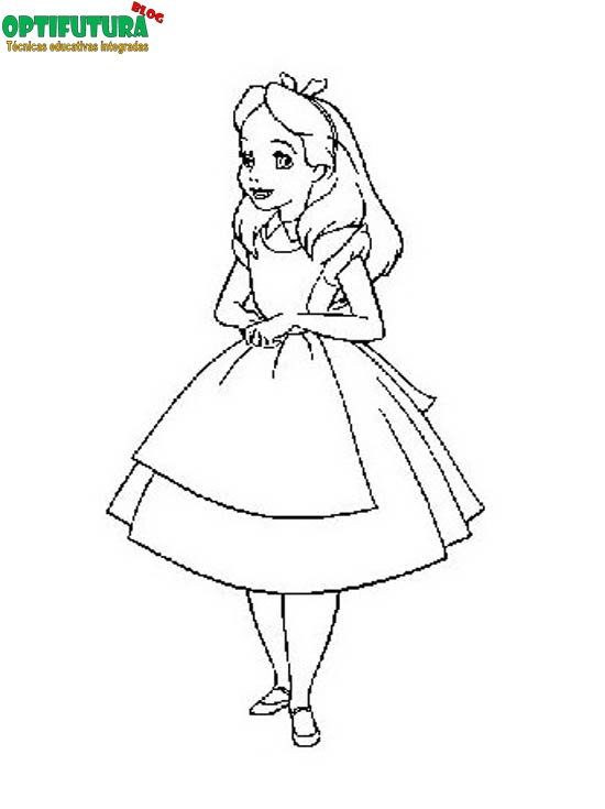 Alicia en el País de las Maravillas [Dibujos para colorear] ~ Optifutura
