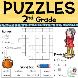 Math Center Ideas Math Crossword Puzzles