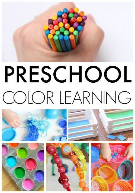 Preschool color recognition and identification activities for preschoolers.