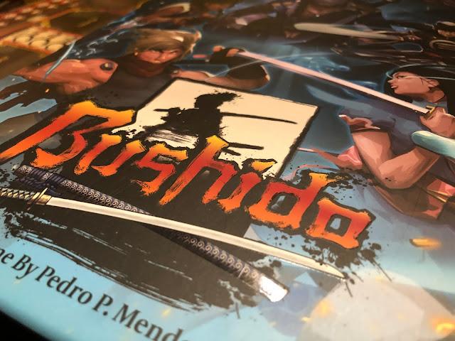 Bushido board game review box art; grey fox games; image by Benjamin Kocher