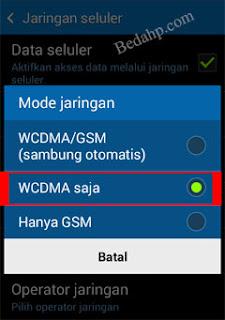 Cara Mengunci Sinyal Jaringan 3G Android 4