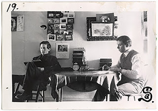 Lot 045 v1p07.19, View of Henry Syverud (left) while at the University of North Dakota