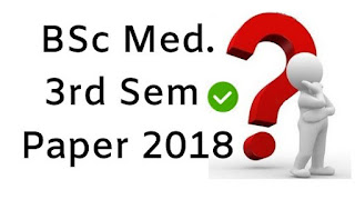 Mdu BSc (Medical) 3rd Sem Question Papers 2018