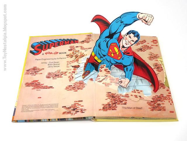 SUPERMAN - Un libro Pop UP  1979 - Editorial Norma - Libros animados  Ingeniería de papel Ib Penick