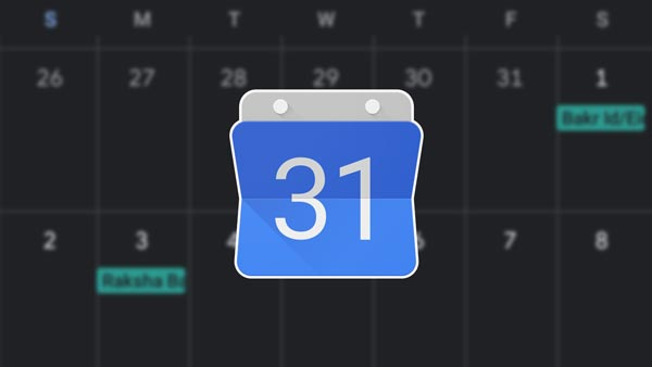 How to enable dark mode on Google Calendar?