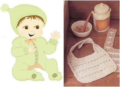 Babero Infantil de Crochet Elegante Patron