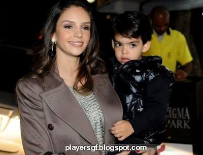 Kaka's wife Caroline Celico and His Son