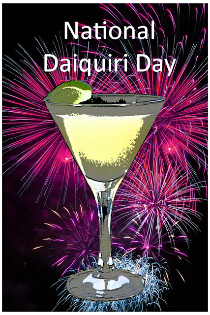 Daiquiri recipes to enjoy on National Daiquiri Day.......and any other day you feel like a daiquiri!