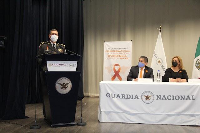 IMPULSA GUARDIA NACIONAL ACCIONES PARA ELIMINAR CUALQUIER TIPO DE VIOLENCIA CONTRA LAS MUJERES