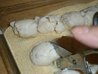 Croquetas de pollo, preparación 11