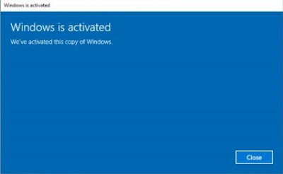 17. Windows 10 telah di aktivasi