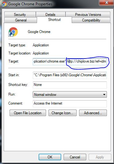 Shortcut Google Chrome