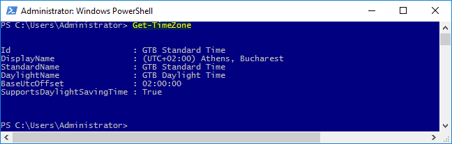 تكوين إعدادات التاريخ والوقت والمنطقة الزمنية في Windows Server 2016