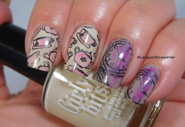 UberChic Beauty's Fairtytale 02 over Girly Bits Cosmetics Yes, We Can and Irreplaceable