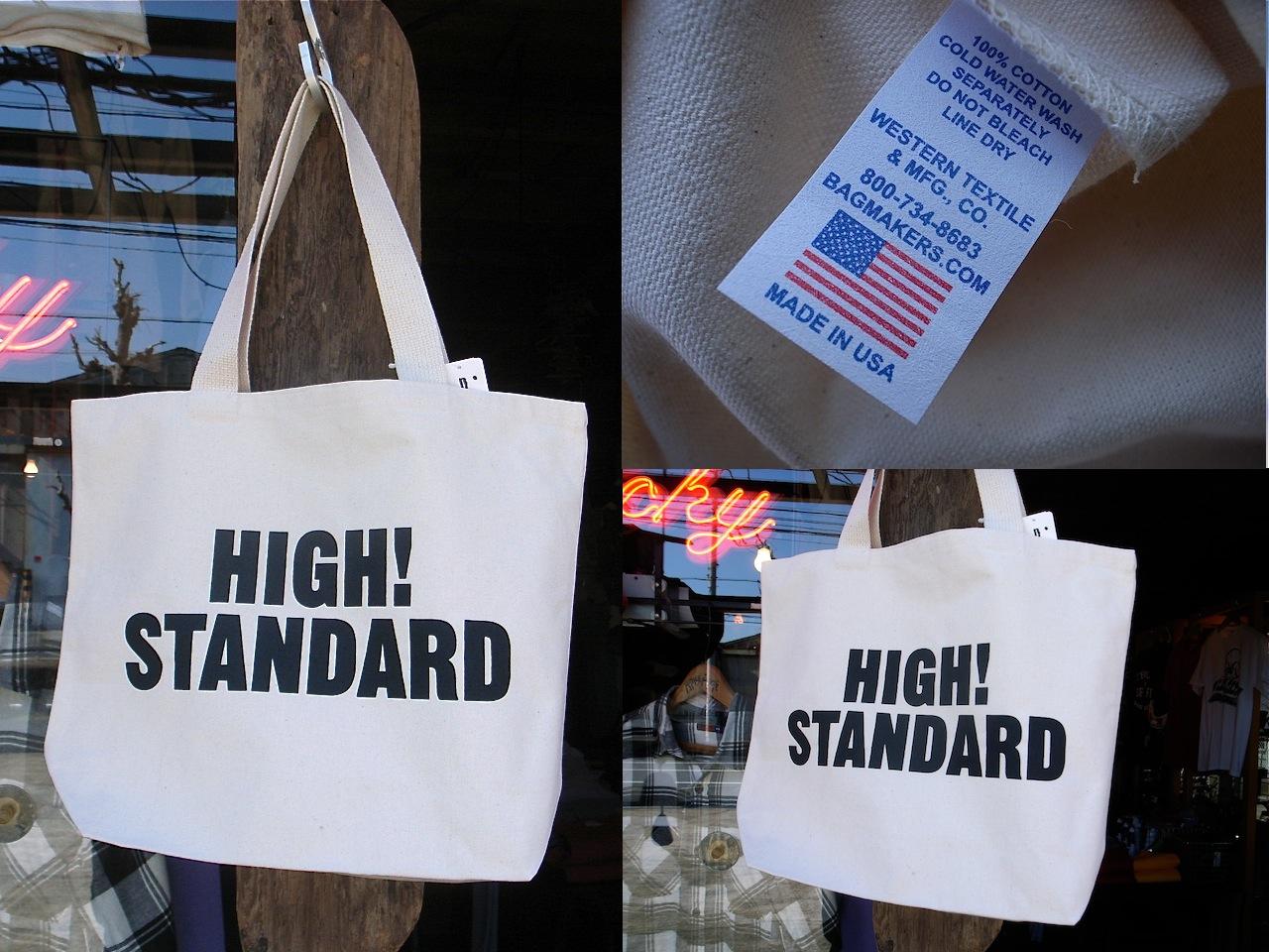9a19874a6b7 HIGH! STANDARD (CANVAS TOTE BAG) | welcoblog