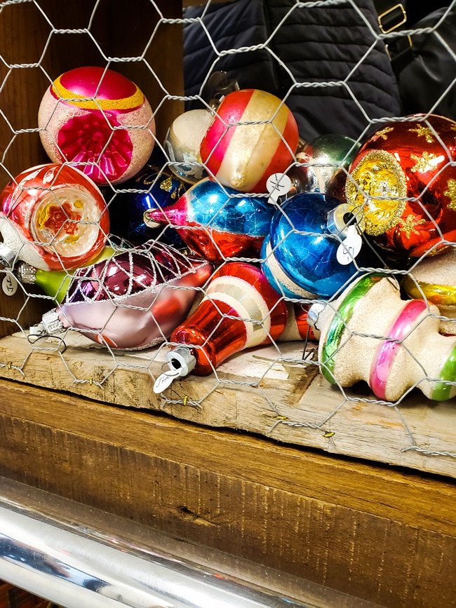 vintage shiny brite christmas ornaments at vintage market days st louis